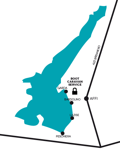 Parking Boot Gardasee Map